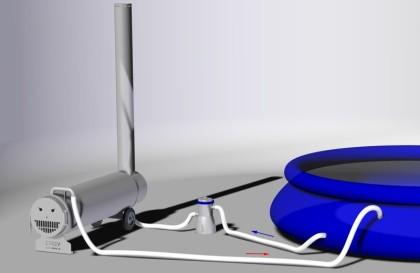 der poolofen die holzheizung f r ihren pool video anschl. Black Bedroom Furniture Sets. Home Design Ideas